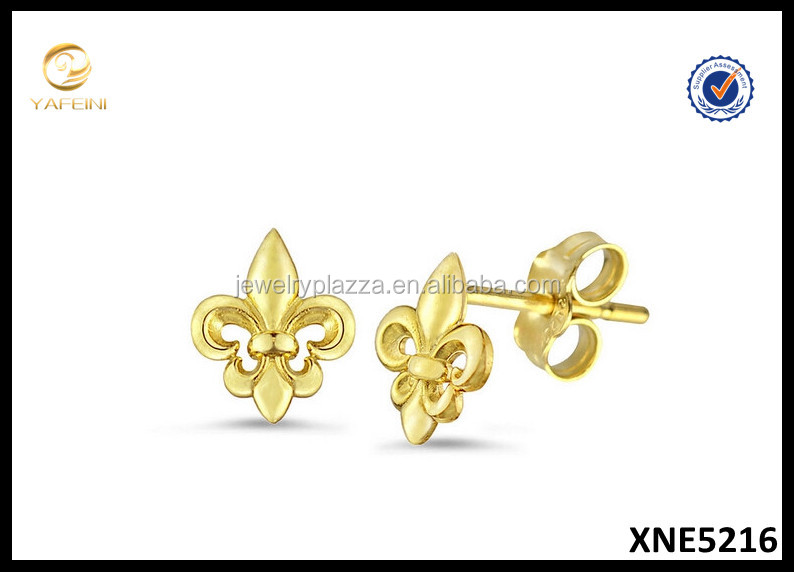 Fleur de Lis Stud Earrings Factory Price Silver 925 Earring