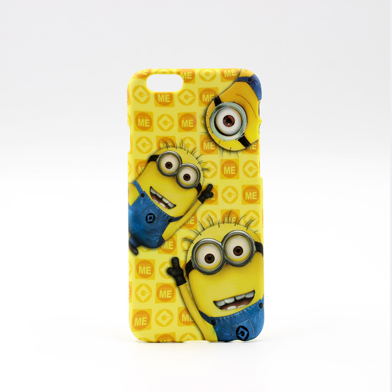 Cute Cartoon Minions Cell Phone Case Full Back Cover For iphone 6