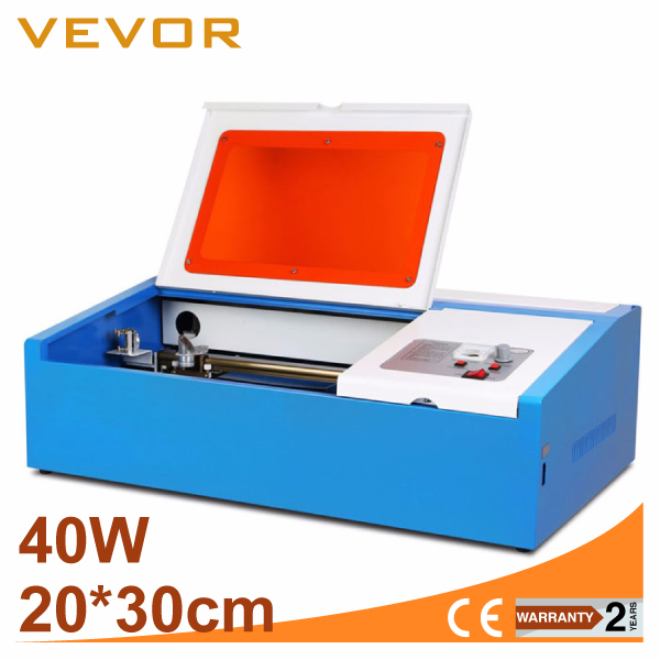 VEVOR HIGH PRECISE and HIGH SPEED Third Generation 40W CO2 Laser Engraving Cutting Machine USB PORT