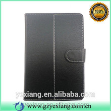 Black PU Leather Case For Tablet 7 Inch With Belt Profolio Leather Case