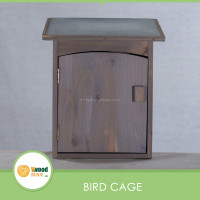 Wood bird cage pet house