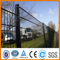 High Security powder coating 6/5/6 or 8/6/8 Double Rod Wire Mesh Fence, 2D fence, twin wite mesh fence
