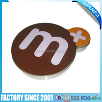 special shaped tin box for chocolate candy
