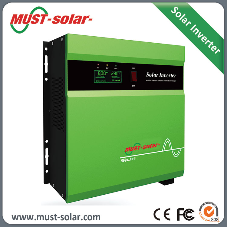 Pure Sine Wave 660w 800w 1440w Hybrid Solar Mini Power Inverter 12v 220v with 30A/50A PWM Controller