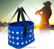 Outdoor fishing folding bucket barrels bag Camping water tank for fishing