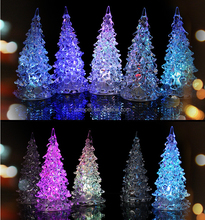 Luminous night market stalls selling toys colorful Crystal acrylic Christmas tree