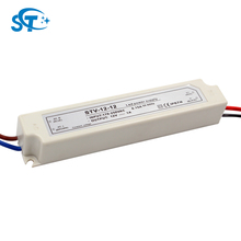 IP6712W Constant Voltage LED Driver 12V DC Waterproof LED Power Supply (STV-12-12) with Plastic Shell and CE ROHS Approved