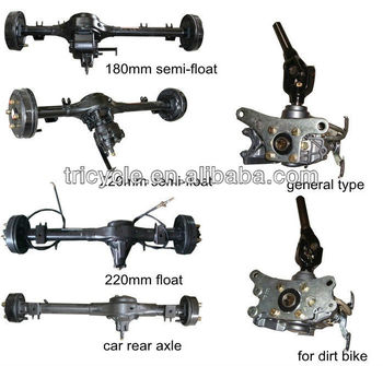 Shaft Transmission Car Rear Axle, Reverse Device for Three wheeler Vehicles