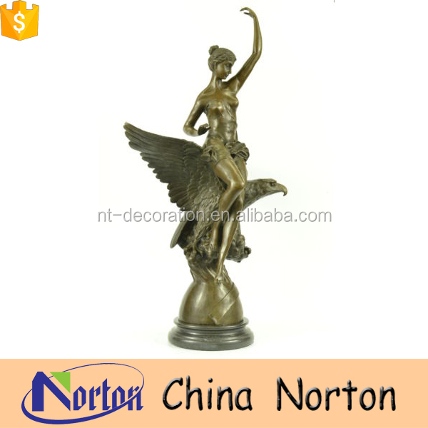 outdoor cast brass lady statues sculpture NTBH-S830S