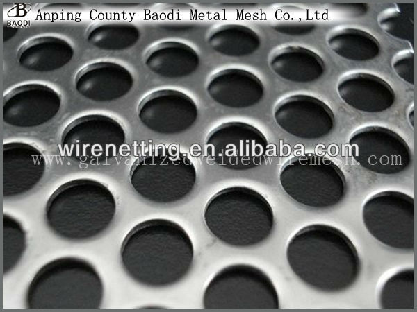 Round Hole 5mm thick Stainless Steel Perforated Sheet