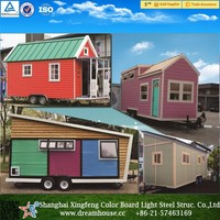 prefab kits home/prefabricated movable trailer tiny House/casas prefabricadas house price