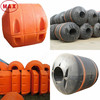 Polyurethane pu foam filled pipe floats for marine dredging