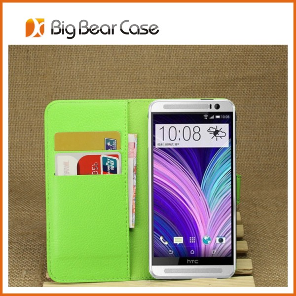 hot selling pu cover leather case for htc one m8