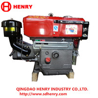Hot sale water cooled single cylinder 4 Stroke diesel engine R180