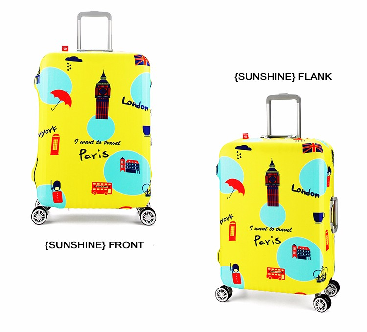 Full Printing Elastic Spandex Suitcase Cover Protector For Teenagers