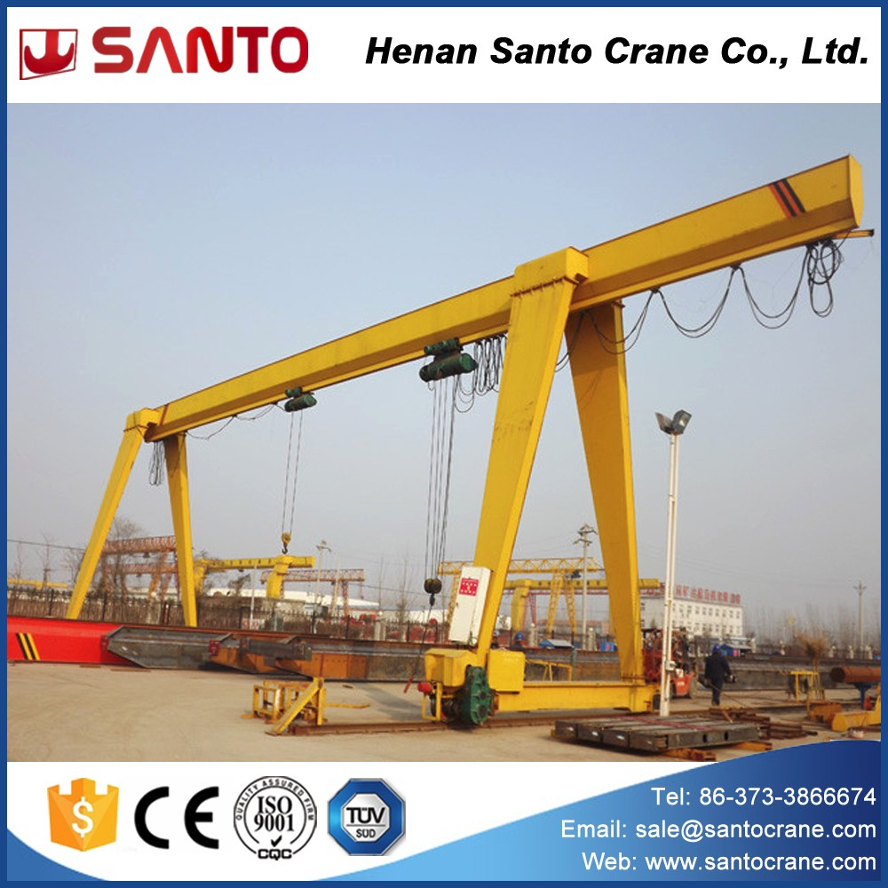 Remote pendent cabin control crane easy operate Single girder gantry crane 5 ton 10 ton 20 ton with limit switch