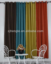 100% Polyester Window Blackout Curtain With Rod