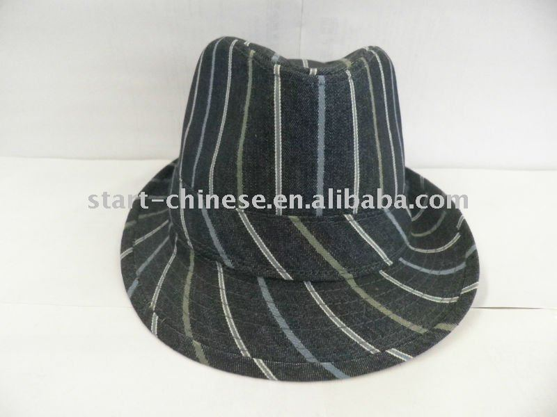 West Men Black and red fedora hat brand