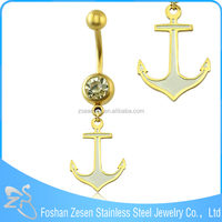Wholesale gold color belly button rings free sample