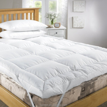 Hot selling soft Goose Duck down feather bed mattress Topper Mattress Protector pad