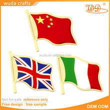 Wholesale cheap metal gold plated custom flag lapel pins