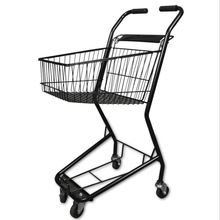 Four Wheels stainless steel retail online shopping trolley