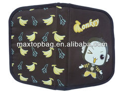 2-layer school pencil case with monkey pattern