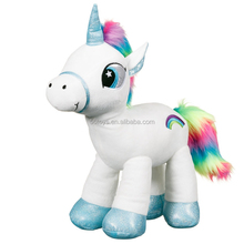 Safty plush pink pony toys with healthy PP cotton