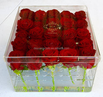 Acrylic Rose Box Crystal Flower Box Gift Box