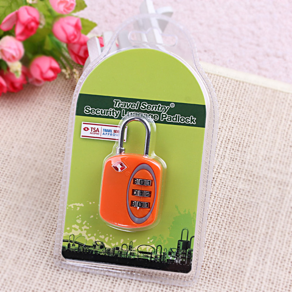 TSA-519 3 digits ABS custom mini combination padlock