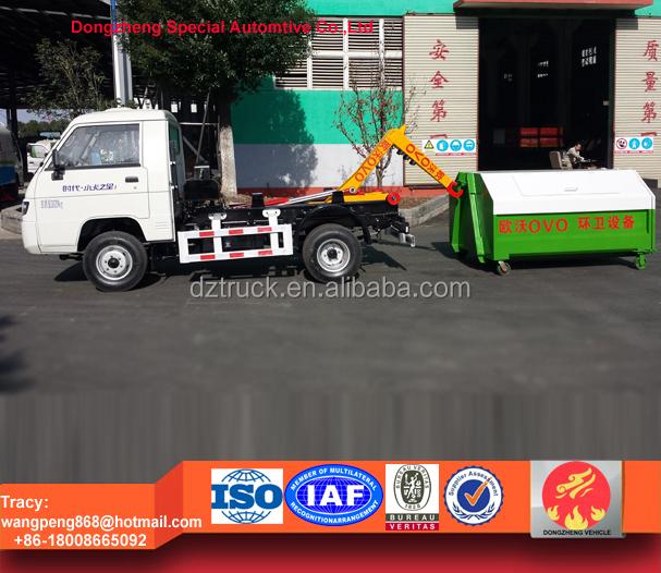 Foton 2ton hook lift waste truck,foton 3cbm hook lift dustcart for sale
