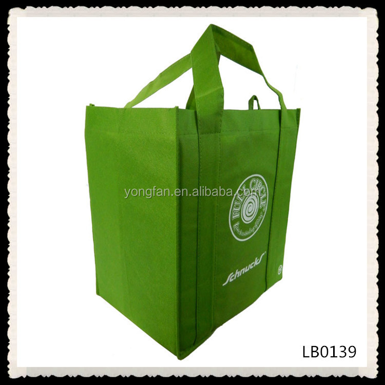 Durable Recyclable Material Promotional Non Woven 6 Bottle Wine Tote Bags