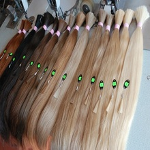 100% Unprocessed russian virgin remy human hair extension top quality bulk hair for sale