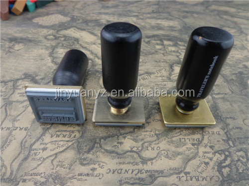 wood handle Eva Rubber Stamp+ Brass head for office USE