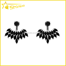 wholesale black cz zirconia sterling sivler women ear jacket