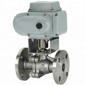 Electric remote control Floating Ball Valve with Fluorine