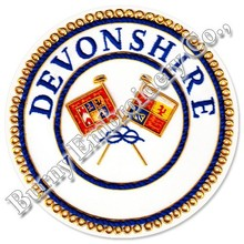 Masonic Regalia Devonshire Hands Embroidery Blazer Badge