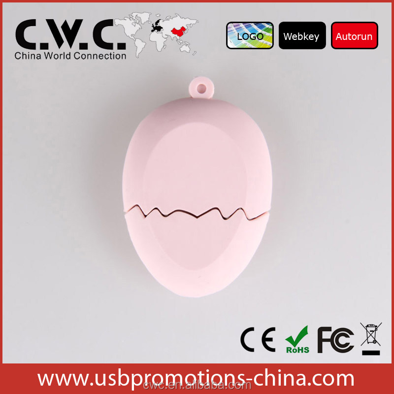 Factory Cheap OEM Portable eggs usb flash drive 2.0