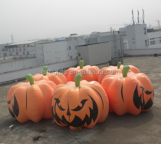 2018 hot selling Halloween decorations big inflatable pumpkin ground balloon