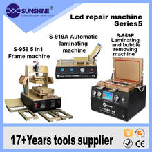Full Set Mobile Phone Table Pc Lcd Screen Repair Frame Laminator Machine With Air Debubble And Glue Removing