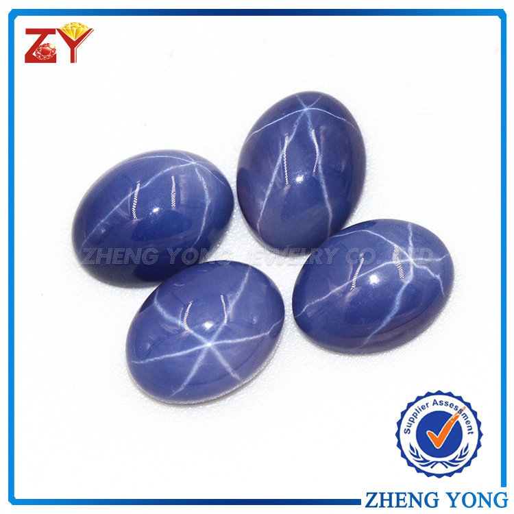 Special cabochon star light stone blue star sapphire for fashion jewelry