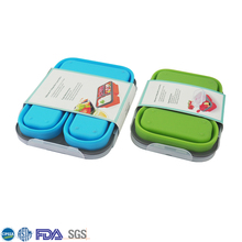 New Design Food Grade Collapsible Silicone Lunch Box Containers
