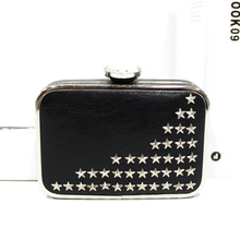New brand fashion style elegance lady cheap black leather purse for women