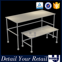 OEM stainless steel table stand for clothing retails store promotion sales