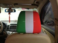 Italy flag football fans car headrest cover spandex polyester knitting seat cover for car