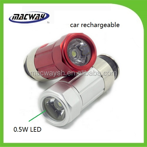 Rechargeable led torch car emergency mini flashlight