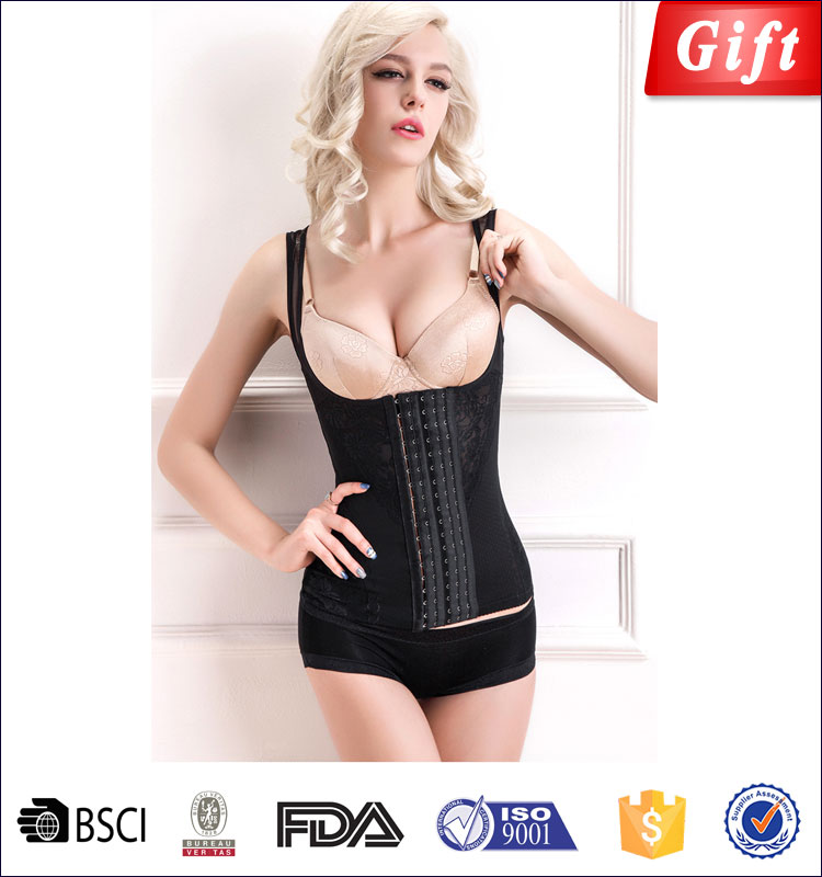 High fashion lingerie sexy corsets fat women sexy garter corset slim by night body shaper bondage magic slimming girdles black