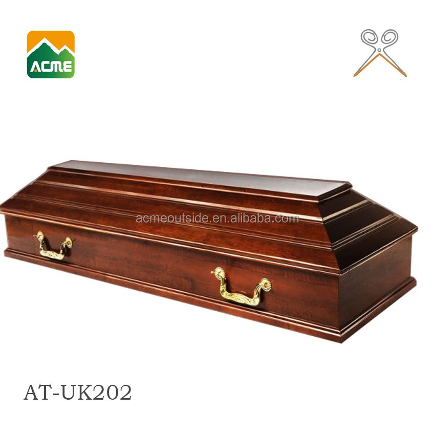 luxury american pecan coffin for sale supplier german style coffin