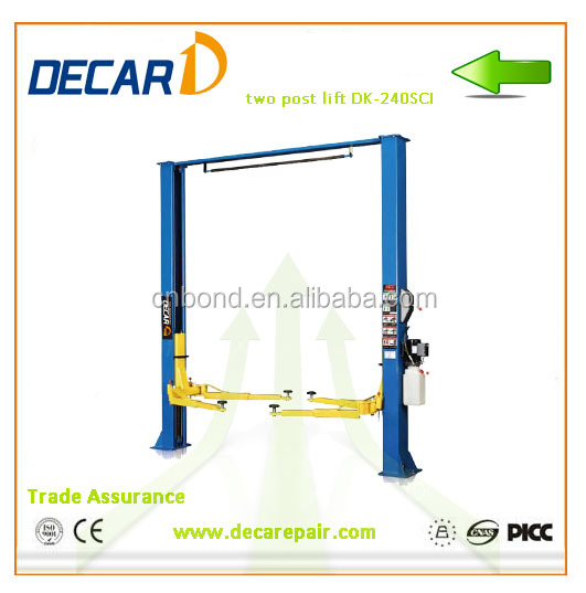 China Two Post Car Lift Ramps For Sale , Car Lift Manufacturer