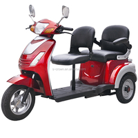 800W 60V20AH Lead Acid Electric Tricycle With Passenger Seat